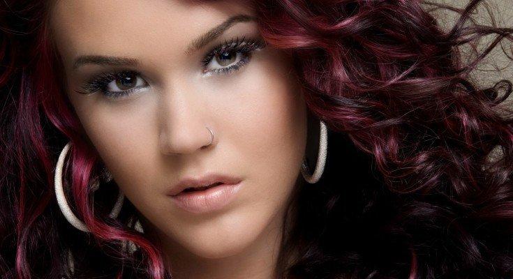 Цвет волос махагон красноватого оттенка