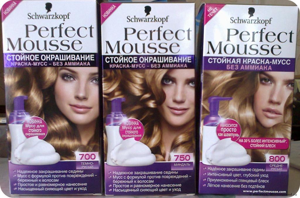 Краска-мусс для волос Schwarzkopf Perfect Mousse светлых оттенков