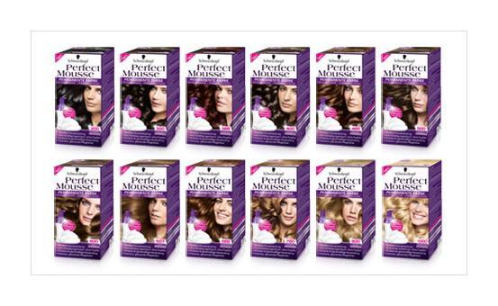 Палитра краски-мусса для волос Schwarzkopf Perfect Mousse