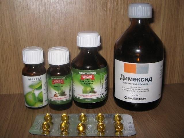 Ингредиенты для маски с димексидом