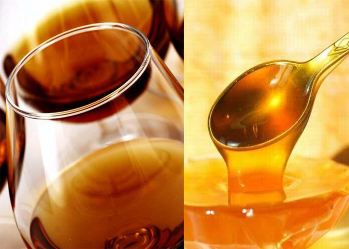 Коньяк и мед для маски