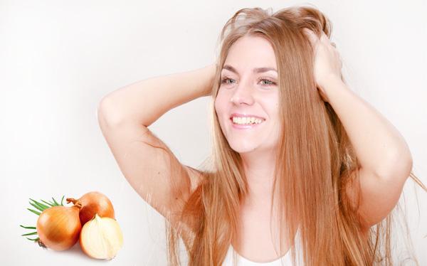 Маска с луком для волос