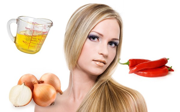 Девушка и ингредиенты для масок