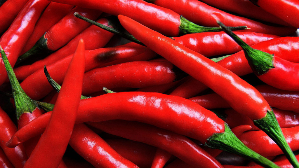 Россыпь острого красного перца