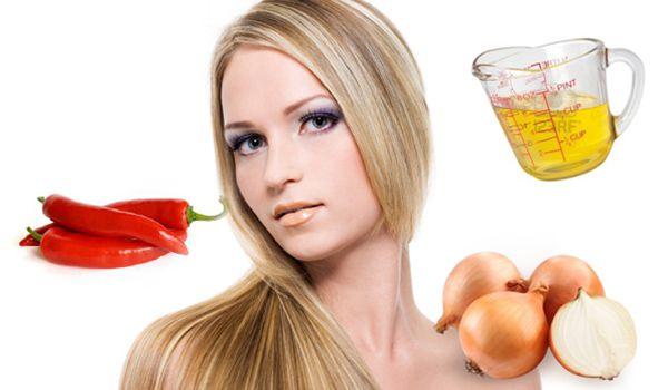 Девушка со светлыми волосами и продукты для натуральных масок
