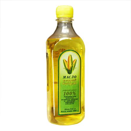 Масло кукурузы в пластиковой бутылке