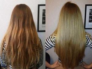 Ламинирование волос до и после
