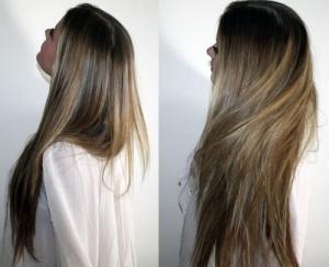 Волосы после применения маски